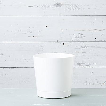 6-Inch Full Depth Round Cylinder Pot White