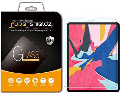 Supershieldz for Apple iPad Pro 12.9 inch (2018 Model, 3rd Generation) Tempered Glass Screen Protector, Anti-Scratch, Bubble Free, Lifetime Replacement Warranty [Updated Version]