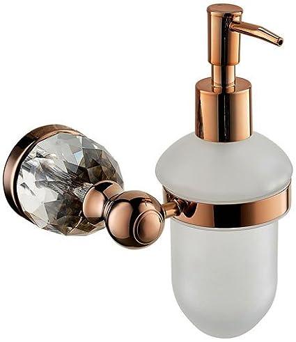 yancui @ Vintage cobre oro rosa accesorios de baño montado en la pared dispensador de jabón