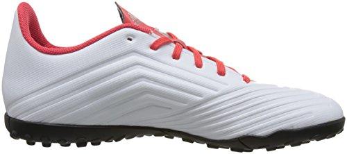 Scarpe Da Calcio Adidas Predator 18.4 Turf - Adulto - Bianco / Nero / Corallo Reale - Taglia Scarpe Uk 8