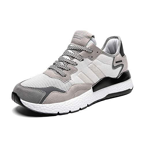 Ahico Running Shoes Men Sneaker Ultralight Causal Lightweight Breathable Walking Shoe White Size 12