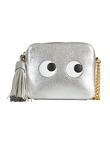 ANYA HINDMARCH WOMEN'S 925679 SILVER LEATHER SHOULDER BAG
