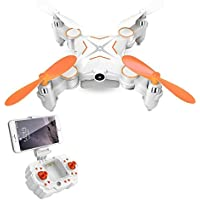 Amazingbuy - RC Mini Drone RC Quadcopter RC Helicopter Toys 2.4GHz Remote control Portable FPV VR Wifi RC Quadcopter Remote Control Drone with HD 720P Camera RC Helicopter (Blue)