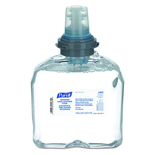 02 Alcohol (PURELL 539202CT Advanced TFX Foam Instant Hand Sanitizer Refill, 1200mL, White (Case of 2))