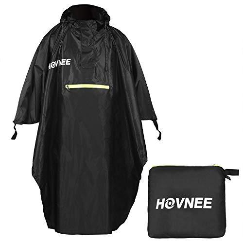 HOVNEE Regenponcho, 100% wasserdichter Multifunktions Outdoor Regen Poncho, geeignet für Männer/Frauen,Regencape Regenponcho, Wandern, Radfahren, Camping und Festivals usw