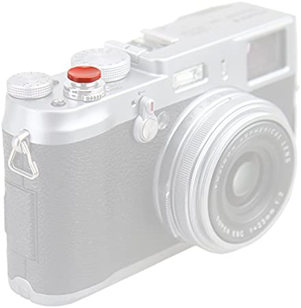 FM2 Rojo De Metal Botón disparador Ergonómico Para Nikon F3 D100