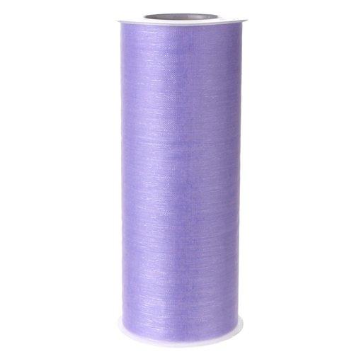"""Homeford FEVETLL002LA 25 yd Organza Spool Roll, 6"""", Lavender"""