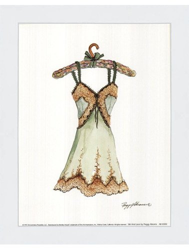 Amazon.com: Framed Silk and Lace- 6x8 Inches - Art Print (Classic ...