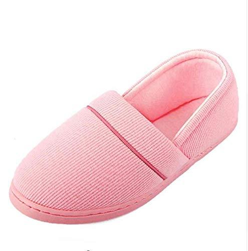 Hiver Pantufa Femmes Maison Chaussures Doux Appartements Intérieur Sol Chaussons Pink Coton Dames Pantoufles Pantoufle Mignon Casual Nsbm Terlik Rose Chaussure qxvwInw