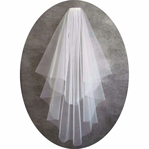 SABridal Cut Edge Tulle Comb Wedding Veils Chapel Length 1 Tier Long Bride Veil