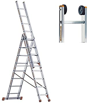 Multiusos escalera Layher 3 teilig Topic{1040} con cabeza de suspensión 3 x 14 layher Altura de trabajo de 11,20 M: Amazon.es: Bricolaje y herramientas