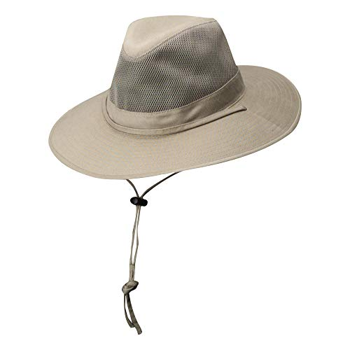 (Dorfman Pacific Outdoors Solarweave Treated Cotton Hat, Camel, X-Large)