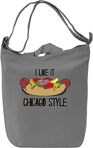 I Like It Chicago Style Borsa Giornaliera Canvas Canvas Day Bag| 100% Premium Cotton Canvas| DTG Printing|