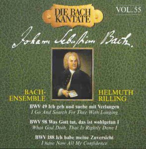 Bach Cantatas 49 98 Max 68% OFF 188. And Soloists Limited price sale Bach-Ensemble Rilling