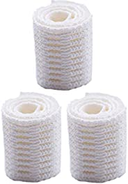 Performall Sports Sail Lacrosse Mesh Semi-Soft White (3-Pack) and 3 Ball Stops Stringer Pack