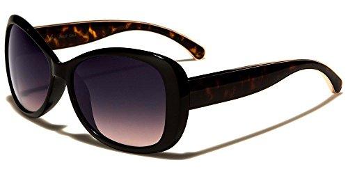 Black Tortoise Butterfly Golden Lining Women'S Fashion Sunglasses ()