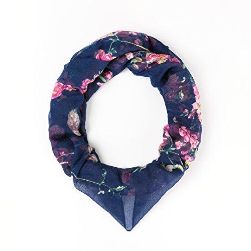 Triple Season Soft Lightweight Sheer Long Scarves Woman's Pretty Floral Print Scarf Shawl Wrap