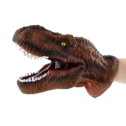 Birdfly Dinosaur Costume T-rex Headgear Mask and Dinosaur Hand Puppet Role Play Realistic Tyrannosaurus Rex Head Gloves Soft Toy (Tyrannosaurus(Hand -