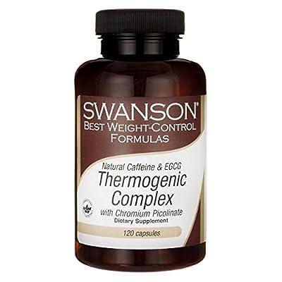 Swanson Natural Caffeine & Egcg Thermogenic Complex 120 Caps