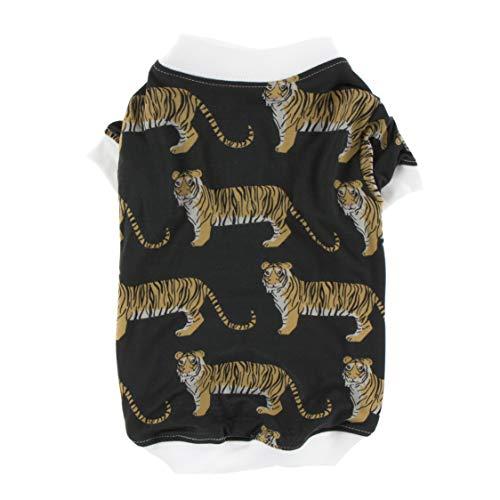 KicKee Pants Print Dog Tee in Zebra Tiger, XL ()