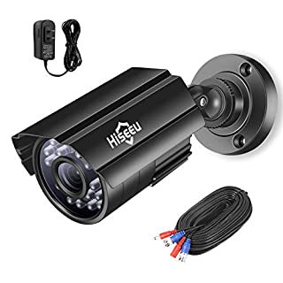 Hiseeu 1080P TVI/CVI/AHD/XVI Bullet Camera,CCTV Home Surveillance Camera IP66Weatherproof 3.6mm Lens with IR Cut,9.8Ft Power Cable,58Ft BNC Cable,DC 12A 1A Power Adapter