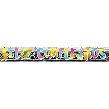 12ft Foil Feliz Cumpleanos Banner