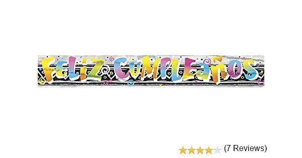 Unique Party- Cartel de Feliz Cumpleaños, 3,6 m (90011LF): Amazon ...