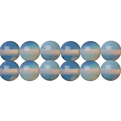 Synthetic Opal Stone Round 10mm Beads for Handmade Necklace Bracelet Earrings Jewelry Beading Supply One Strand 15 Inch Apx 35 Pcs Synthetic Opal Necklace