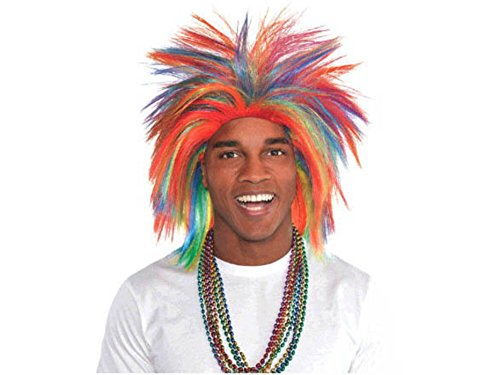 Crazy Wig Accessory for Team Spirit Party Game, Halloween, School Acting, Costume Party, for Boys, Girls (Kids and Adults) -