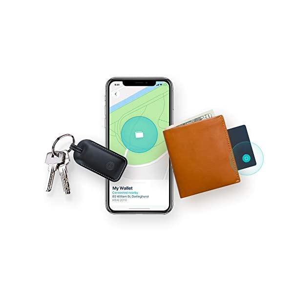 Safedome Recharge Bluetooth Tracking Combo Pack - 1 Premium Leather Smart  Key Finder Fob & 1 Rechargeable Tracking Card, Find Your Lost Wallet, Keys,
