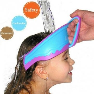 Adjustable Baby Children Rubber Cap Prevent Shampoo Cap Bathing Hair Shield by Completestore from Completestore