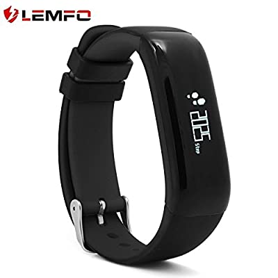 LEMFO P1 Bluetooth Waterproof Fitness Tracker with Heart Rate Monitor and Blood Pressure Sports Smart Wristband Pedometer Smart Bracelet Call Reminder Smart Band For Android iOS