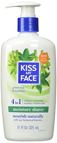 Kiss My Face Moisture Shave Natural Shaving Cream, Green Tea