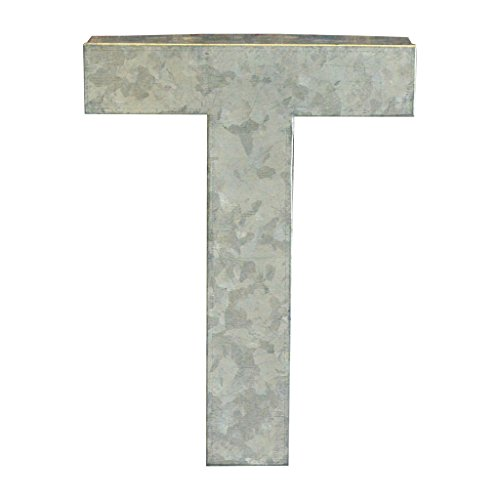 Modelli Creations Alphabet Letter T Wall Decor, Zinc by Modelli Creations