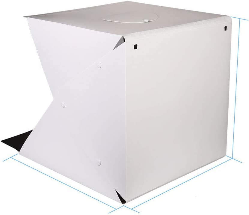 SHENXIAOMING Dimmable Studio Light Box 30x30cm Portable Photo Tent with 2 Adjustable LED Strip Lights,20cm