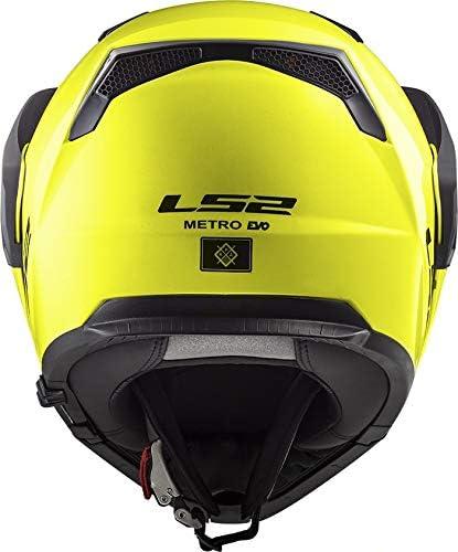 LS2 Casque moto FF324 METRO EVO HI-VIS Jaune P//J Jaune M