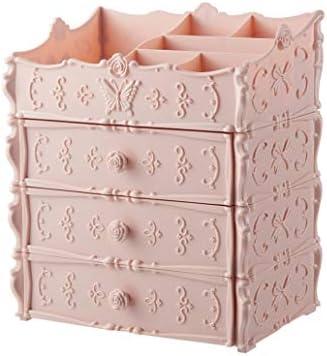 コスメボックス メイクボックス 大容量メイクケース 化粧品収納ケース 筆筒 防塵 化粧品入れ 北欧風 かわいい 蝶結び 引き出し式 超大容量 25.5*17*30.5cm 25.5*17.5*23cm ホワイト ピンク