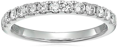 - Vir Jewels 1/2 ctw Prong Set Diamond Wedding Band in 14k White Gold in Size 8