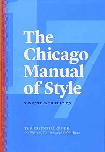 The Chicago Manual of Style, 17th Edition cover