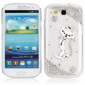 White Fox Crystal Case for Samsung SIII S3 i9300