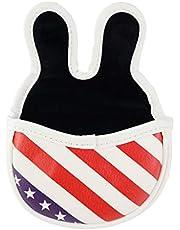 perfeclan Funda para Cabeza de Palo de Golf Cierre Magnético Patrón de Bandera Americano, Diseño de Conejo