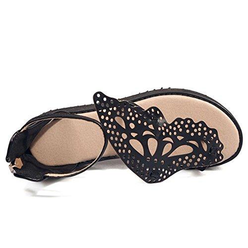 Black Sandales Ete d Zanpa Chaussures Femmes PxYwqUAg0