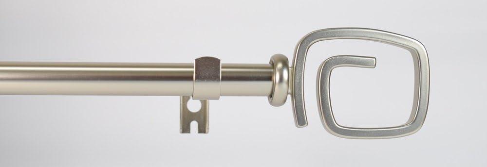 Swish Elegance 19mm dia Extendable Curtain/Voile Poles/Rods Gold & Nickel (Swirl Nickel, 70-122cm) Swirl Nickel 70-122cm