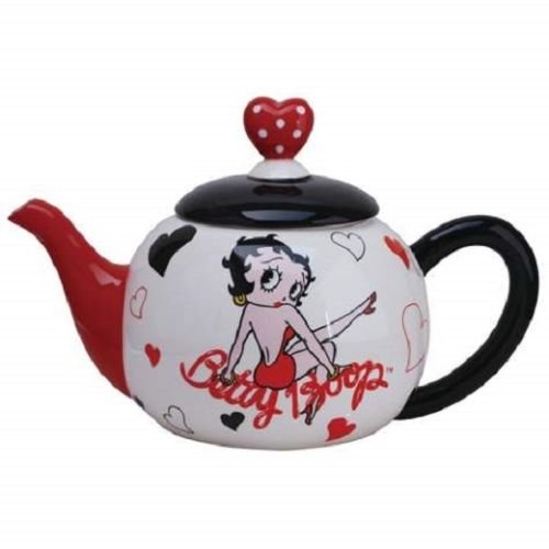 Betty Boop Hearts 40oz Ceramic Teapot #24081