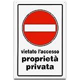 CARTELLO 30X20 PROP.PRIV.V/ACC.
