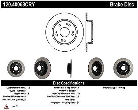 Preferred Rear Centric 120.40068 Disc Brake Rotor-Premium Disc
