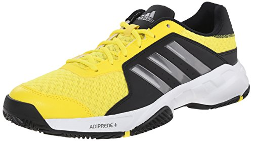 adidas Performance Mens Barricade Court Tennis Shoe Bright YellowIron MetallicBlack 10.5 M US