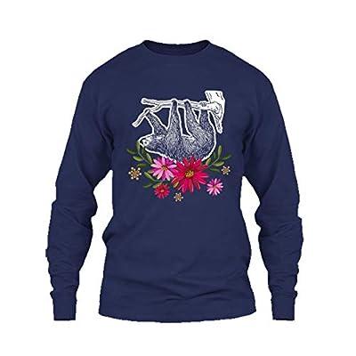 Eleven Garlic Sloth Flowers Shirt, T Shirt, Long Sleeve Shirt - Sloth T-Shirts