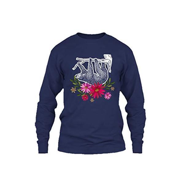 Eleven Garlic Sloth Flowers Shirt, T Shirt, Long Sleeve Shirt -