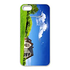 The Blue Sky And Green Grass Hight Quality Plastic Case for Iphone 5s